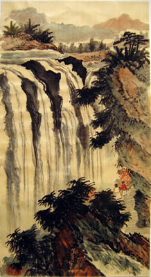 Landscape with Waterfall # 23