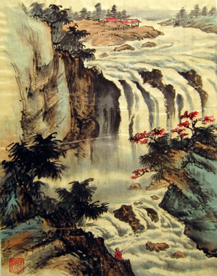 Landscape with Waterfall # 42