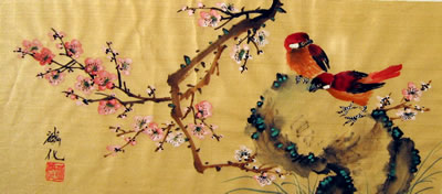 Birds & Plum Flowers