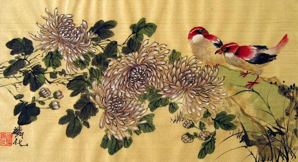 Chinese silk paintings birds flowers 182 mightylinksfo