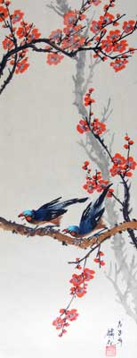 Bird with Plum flowers # 939