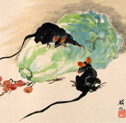 Mice & Chinese Cabbage # 1101