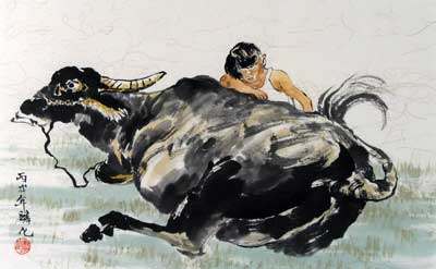 Child with Buffalo # 1241