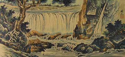 Landscape with Waterfall # 1524