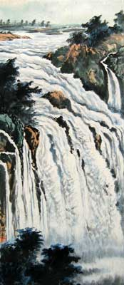 Landscape with Waterfall # 1528