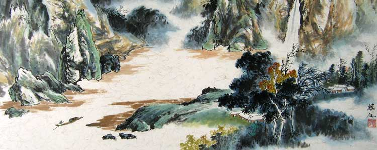 Landscape with River # 1532